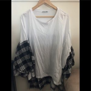 Zara Plaid Combo Tunic